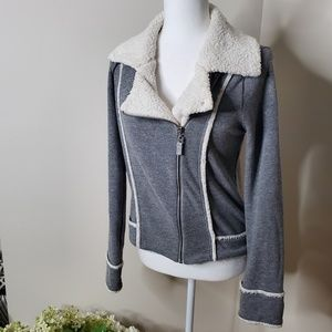 Splendid fleece lined zip up sweater- M